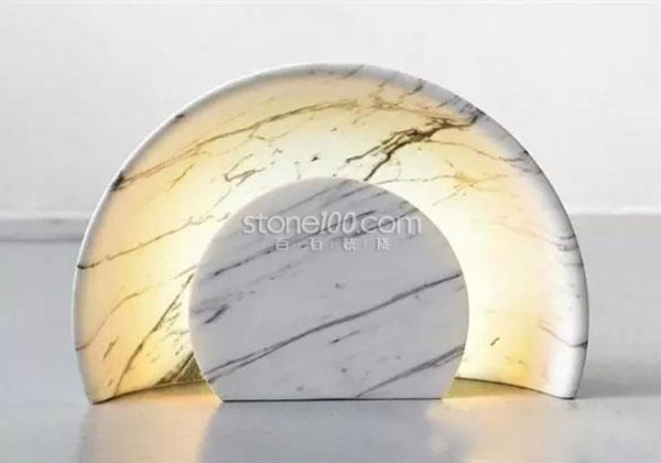 大理石灯具,简约独特之美